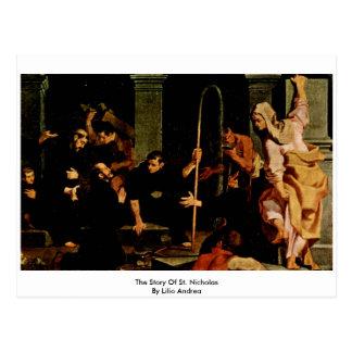 La historia de San Nicolás de Lilio Andrea Tarjeta Postal