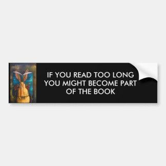 La historia del conejo etiqueta de parachoque