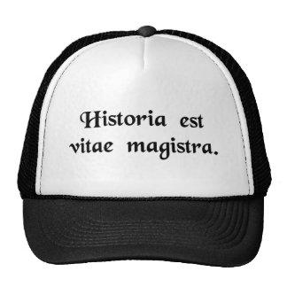 La historia es el profesor particular de la vida gorras