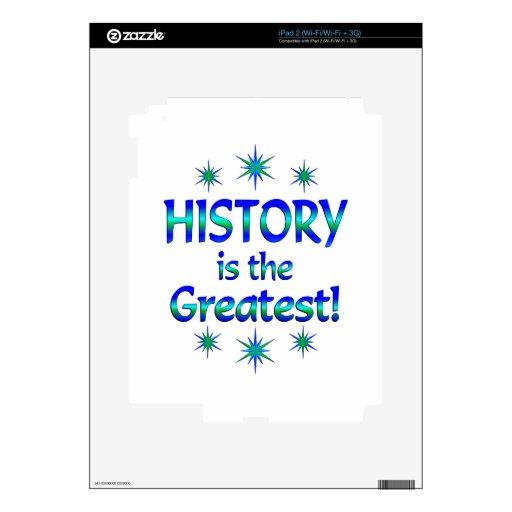 La historia es la más grande calcomanía para iPad 2