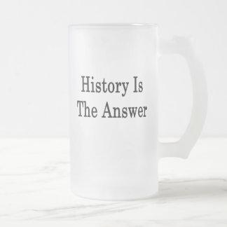 La historia es la respuesta taza de café