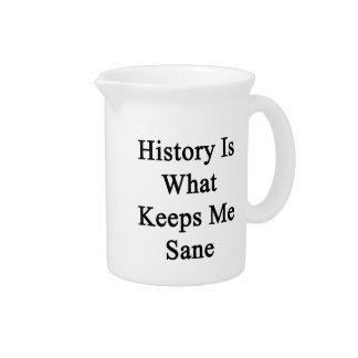 La historia es qué me mantiene sano jarrones