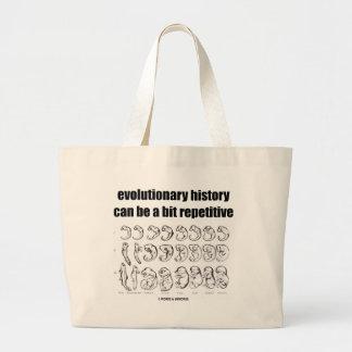 la historia evolutiva puede ser un pedazo repetido bolsa tela grande