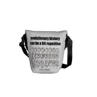 la historia evolutiva puede ser un pedazo repetido bolsas de mensajería