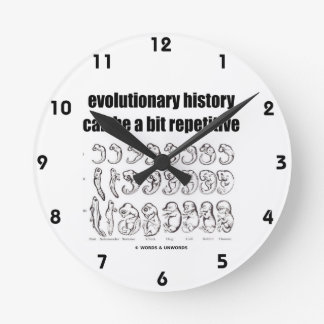la historia evolutiva puede ser un pedazo repetido reloj redondo mediano