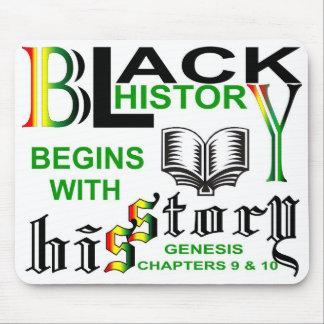 La historia negra comienza w/HiSStory© Mousepad Tapetes De Raton