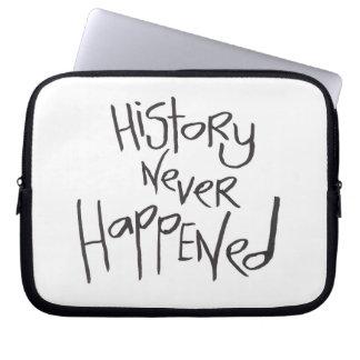 La historia nunca sucedió funda computadora