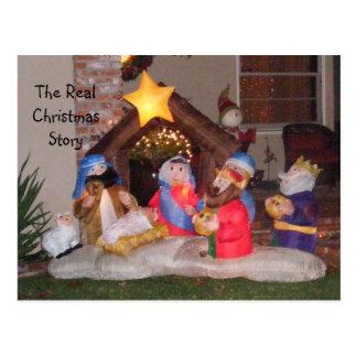 La historia real del navidad tarjetas postales