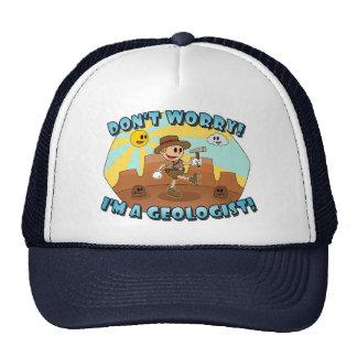 ¡La historieta retra no se preocupa! ¡Soy geólogo! Gorra