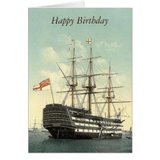 La HMS Victory personalizó la tarjeta de felicitac