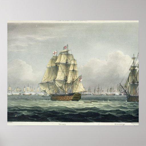La HMS Victory que navegaba para la línea francesa Impresiones