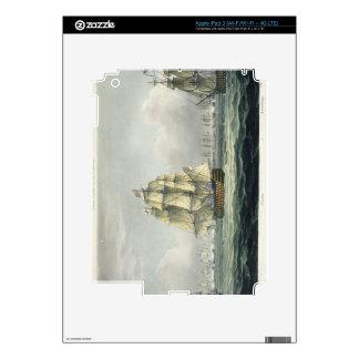 La HMS Victory que navegaba para la línea francesa iPad 3 Pegatinas Skins