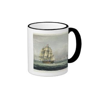 La HMS Victory que navegaba para la línea francesa Taza A Dos Colores
