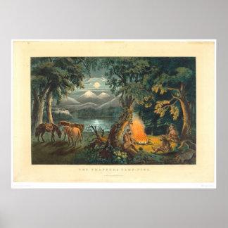 La hoguera 1866 (1779A) del trampero Posters