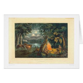 La hoguera 1866 (1779A) del trampero Tarjeta De Felicitación