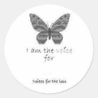 La hoja 20 soy la voz para el pegatina EN BLANCO