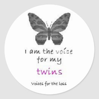 La hoja 20 soy la voz para mis pegatinas rosados pegatinas redondas