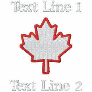 ¡La hoja de arce canadiense del bordado lo persona Camiseta Polo