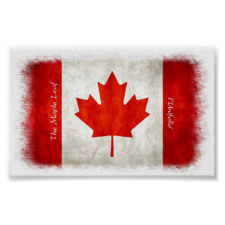 La hoja de arce - poster canadiense de la bandera
