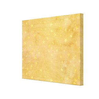 La hoja de oro de moda protagoniza la acuarela impresión en lienzo