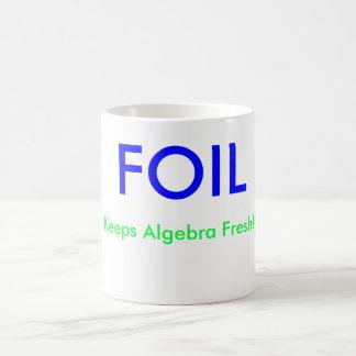 ¡La HOJA, mantiene álgebra fresca! , X =, Y = Tazas
