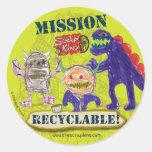 """La hoja reciclable del pegatina de la """"misión de l"""