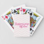 La holgazanería ahora paga apagado rosa baraja cartas de poker