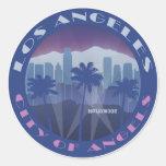 LA Hollywood cool Round Sticker