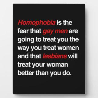 LA HOMOFOBIA ES EL MIEDO QUE LOS HOMBRES GAY LE TR PLACAS CON FOTO
