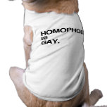 LA HOMOFOBIA ES GAY PLAYERA SIN MANGAS PARA PERRO