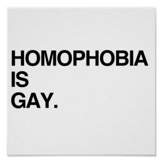 LA HOMOFOBIA ES GAY PÓSTER