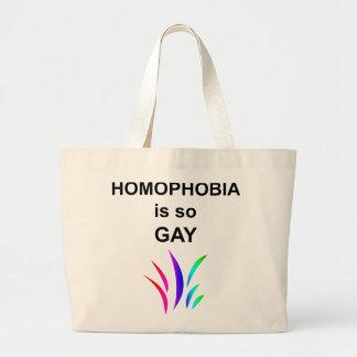 La homofobia es tan gay bolsa de tela grande