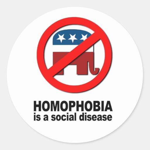 La homofobia es una enfermedad social etiqueta redonda