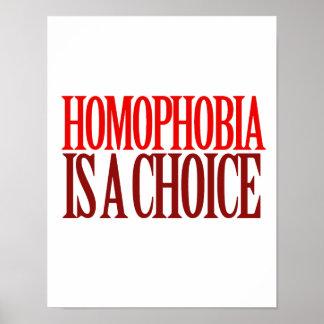 LA HOMOFOBIA ES UNA OPCIÓN POSTERS