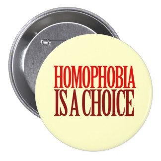LA HOMOFOBIA ES UNA OPCIÓN PIN REDONDO 7 CM