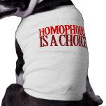LA HOMOFOBIA ES UNA OPCIÓN ROPA DE MASCOTA