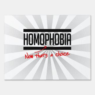 La homofobia es una opción señales