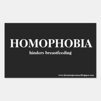 La HOMOFOBIA OBSTACULIZA al pegatina cuadrado de
