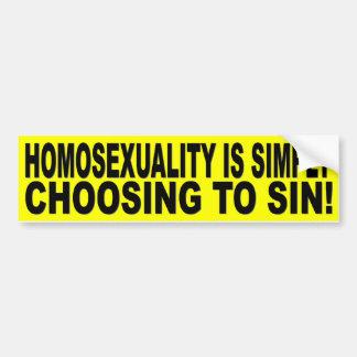 LA HOMOSEXUALIDAD ESTÁ ELIGIENDO SIMPLEMENTE SIN PEGATINA PARA AUTO