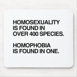 LA HOMOSEXUALIDAD SE ENCUENTRA EN 400 ESPECIES ALFOMBRILLAS DE RATON