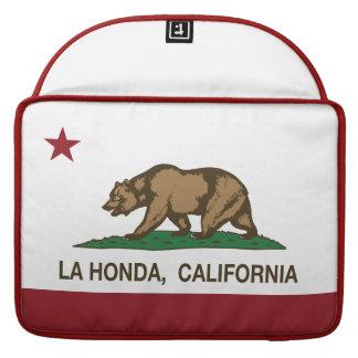 La Honda de la bandera de la república de Californ Fundas Macbook Pro