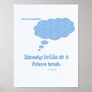 La honradez construye el poster de la confianza