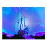 La honradez, verdad, integridad, honor, nave, agit tarjeta postal