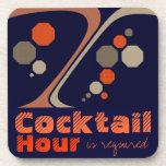 La hora del cóctel es prácticos de costa requerido posavasos de bebida