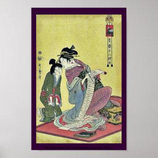 La hora del perro por Kitagawa, Utamaro Ukiyoe Posters