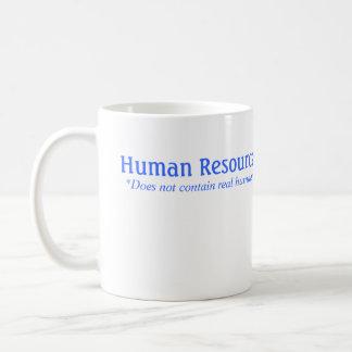 La hora no contiene a seres humanos reales taza básica blanca