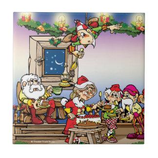 La hora para el navidad apelmaza la teja de