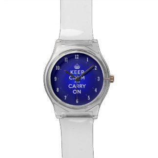 La hora para guarda calma y continúa el vintage relojes de mano