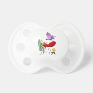 La hormiga de fuego y el Mariposa-Amor púrpura est Chupetes De Bebe
