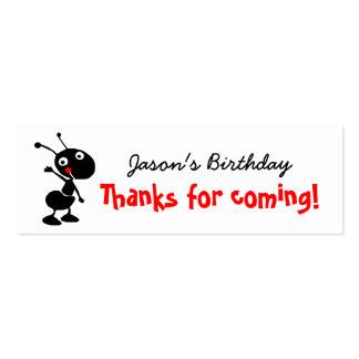 la hormiga del dibujo animado le agradece por tarjetas de visita mini